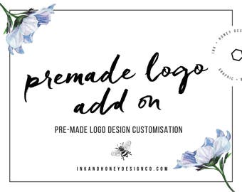 Pre-made logo add-on | Customise a pre-made logo design