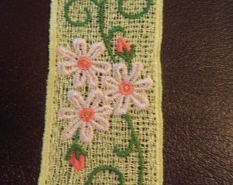 Floral Bookmark - Free Standing Lace