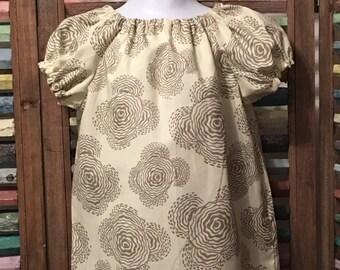 Girls peasant dress, Baby girls dress, Toddler dress, Boho girl dress, 100% cotton, Girls summer dress, Size 18 months, Size 3, #124, #135