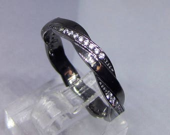 Ring wedding ring Silver 925 Black Rhodium cz. 25% with code: SOLD17