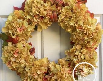 Autumn Wreath, Fall Wreath, Hydrangea Wreath, Front Door Wreath, Wreath, Grapevine Wreath, Wreath Street Floral