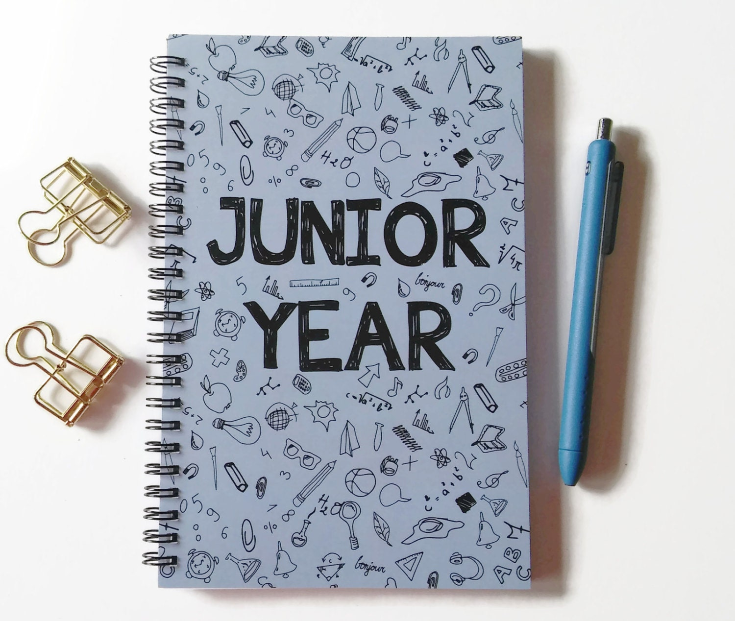 writing journal spiral notebook sketchbook bullet journal writing journal spiral notebook sketchbook bullet journal doodles high school college graduation gift blank lined grid junior year