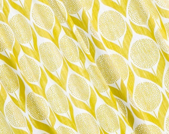Custom Curtains- Yellow Curtains- Lime Yellow- Curtains- Cotton Curtains- Scandinavian Curtains- Geometric- Window Curtains- Curtain Panels