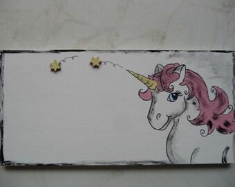 Door.. Name Plate Unicorn Wish name