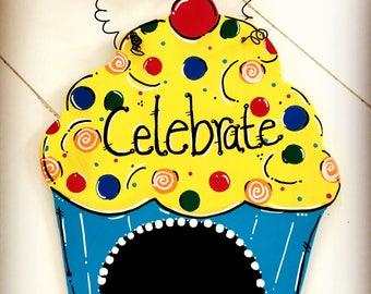 Celebrate Cupcake... Party Door Hanger