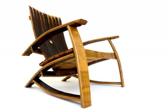 Baril de whisky adirondack jardin chaise en ch ne massif - Chaise adirondack france ...