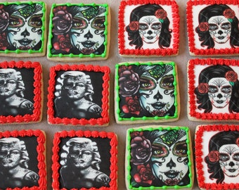 Day of the Dead, Dia De Los Muertos, Sugar Skulls, Skulls, Sugar Skull Cookies, Halloween, Marilyn Monroe, Skeletons, November 1st