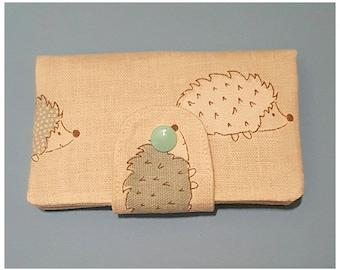 Hedgehog Tea Bag purse,Tea Bag Wallet,Tea Bag Holder for Handbags, Teabag Case, Pocket Tea Bag / Teabag Purse