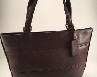 Vintage Coach Tote Bag / Coach Tribeca Brown Leather Shoulder Bag / Carry All / Great Condition / Made in the U.S. / Style 9081