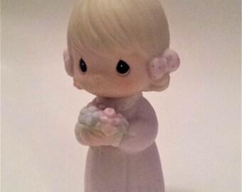 "1984 Precious Moments Figurine, Precious Moments ""Bridesmaid"" Bridal Party Figurine, Precious Moments, Collectible Figurines, Wedding Gift"