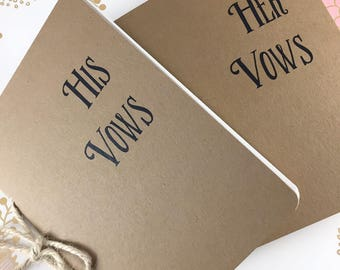 His and Her wedding vow book( Set of 2)/Vow booklets/Note books/Bride/Groom/Vow note books