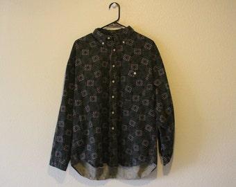Vintage Oversize Button Up