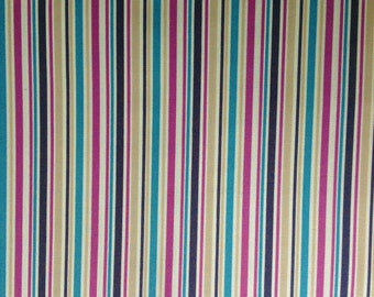 Vintage Stripe Quilting Summer Kids Childrens Boys Girls Baby Pink Tan Navy Turquoise Stripe Cotton