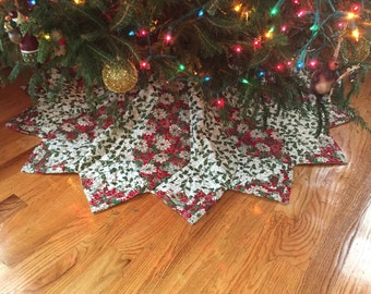 christmas tree skirt large christmas tree skirt quilted tree skirt victorian tree skirt - Large Christmas Tree Skirt
