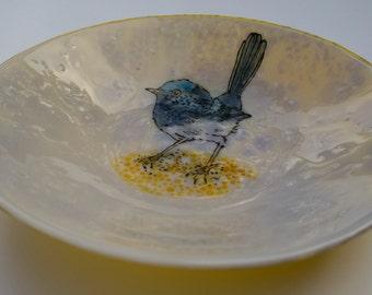 Australian Blue Wren - Large Bowl #1022