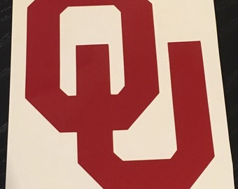 OU Decal for Yeti, Rtic, SIC, etc Tumblers - Unofficial