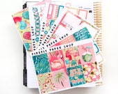 Poolside Weekly Kit (stickers for Erin Condren Life Planner - Vertical)