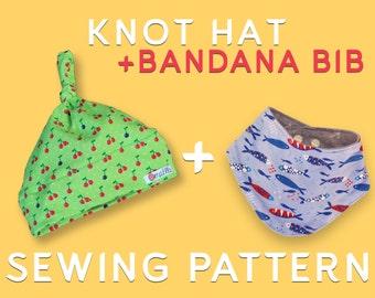KNOT HAT + BANDANA bib - Sewing pattern+tutorial