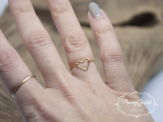 Best friend gifts, heart, gold ring, heart ring, unique ring, handmade ring, gold plated, made in Italy, not tarnish jewelry, birthday gift
