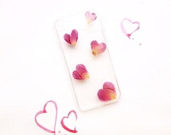 Pressed Flower Phone Case • Heart Phone Case • Pressed Flower Case • iPhone Case • Phone Case • iPhone Accessories • Resin Case