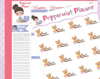 Teddy Bear Need Stickers #332