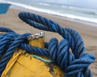 Voyage logo rope ring 925 Silver