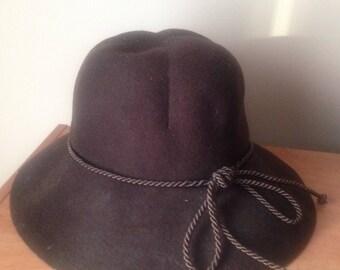 Vintage 1970s Felt Floppy Hat