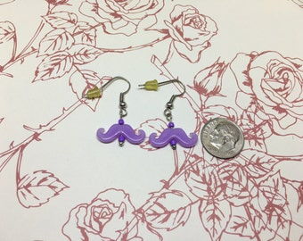 Simple Mustache Earrings
