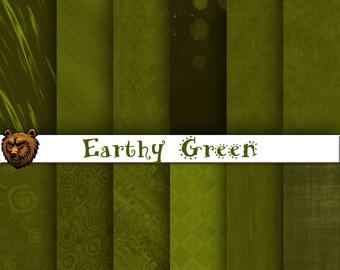 Green digital paper, green background, green scrapbook