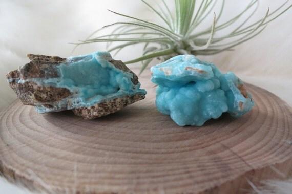 Rare Bubbly Sky Blue Hemimorphite Set - Wenshan Mine, Yunnan of China - ITEM #53
