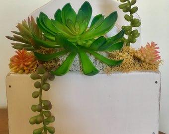 Vintage succulent planter