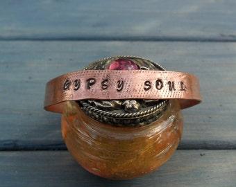 Copper Cuff:  Gypsy Soul