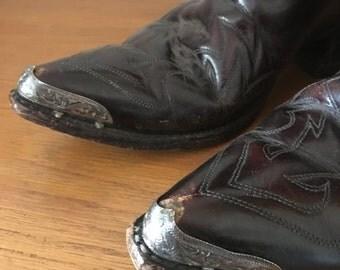 Vintage J. Chisholm cowboy boots // Size 8D // Size 10 // unisex cowboy boots  // USA