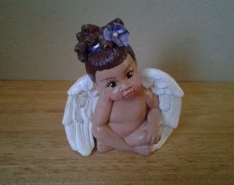 Lil Sitting Angel Girl Purple