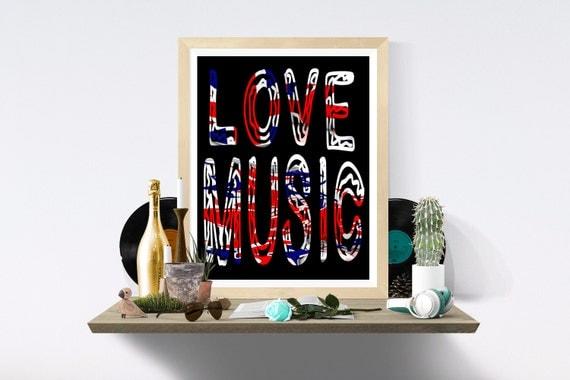 Music, Printable Art, Wall Print, Music Print, Music Prints, Wall Art Print, Wall Art Prints, Digital Paper, Art Print, Art Prints