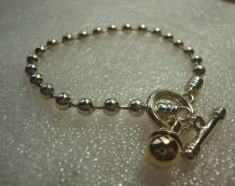 Sale Save 50% Code JULY50 Vintage Signed ESPO SIG Joseph  Esposito 925 Sterling Silver Ball Chain Charm Bracelet HM30617M
