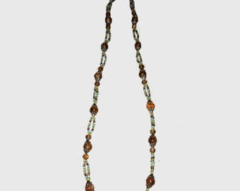 Long Earth Toned Necklace