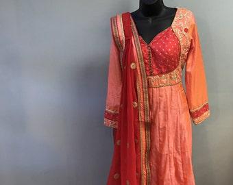 Designer Silk Anarkali set