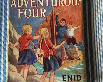 Enid Blyton The Adventurous Four vintage 1950s hardback with dustjacket