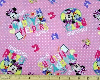 Disney Fabric- Minnie Mouse Fabric- Minnie Mouse Happy Helpers On Call- Daisy Duck Fabric From Springs Creative