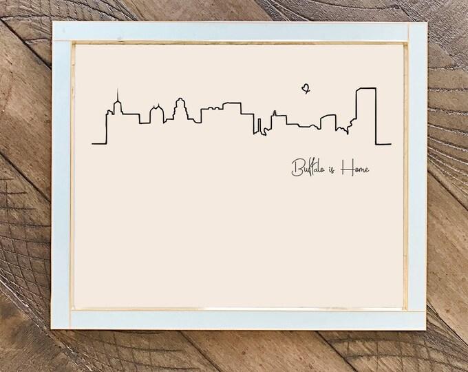 Buffalo Skyline, Buffalo is Home, Art Print