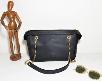 Eliaz CB17 handbag in calfskin night blue