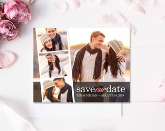 Save the Date Magnet (Printed), Save the Date photo magnet, Save the date photo strip, Custom Save the Date Magnet