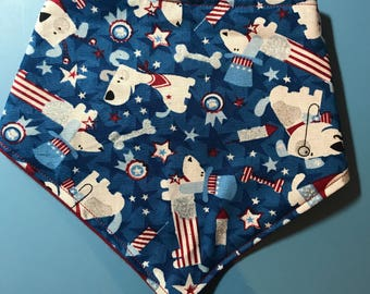 American Dogs Party Baby/Toddler Bandanna Drool Bib