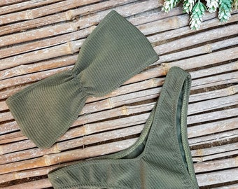 Free shipping! Brazilian Bikini in handmade,Olive Green swimsuits FREE SHIPPING