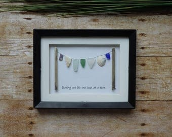 Sorting out life one load at a time / Laundry room decor / Laundry room wall art / Sea glass art / Seaglass wall art / Sea glass picture