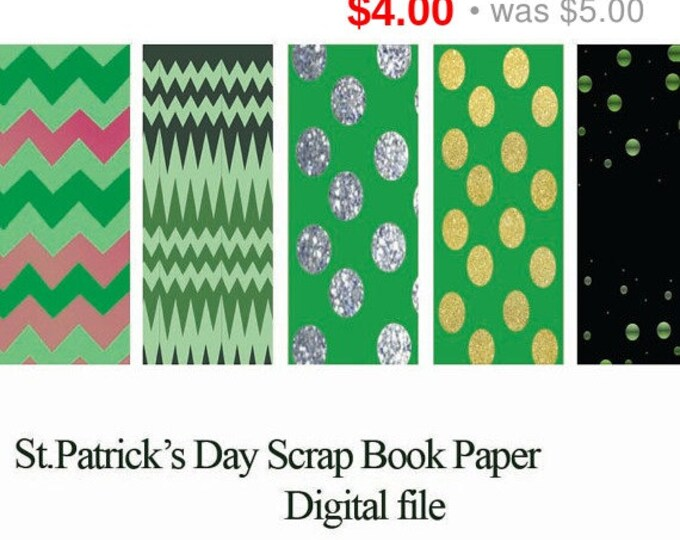 HUGE SALE EVENT St.Patricks paper, scrapbook paper, holiday scrap book, scrap book paper, st patricks day scrapbook, digital paper, digit...