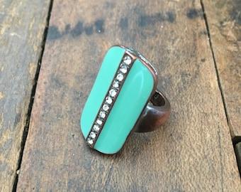 bohemian ring | turquoise