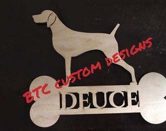 Weimaraner name, Custom weimaraner wooden sign, Weimaraner monogram, Wooden Weimaraner, Dog Name sign, Personalized Dog Sign