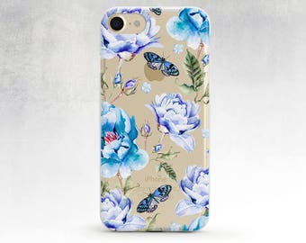 Floral Iphone 6 Case Floral Iphone 7 Watercolor Iphone Case Iphone 5s Clear Case Iphone 6s Case Tpu Case Iphone 6s Rubber Case Iphone 5 Case